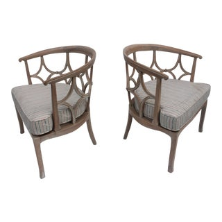 Dorothy Draper Style Hollywood Regency Chairs A Pair