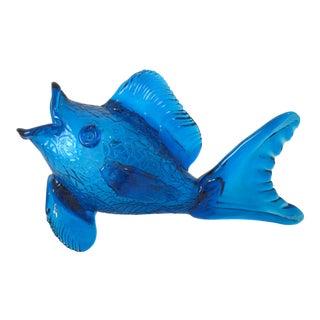 Blenko Glass Fish Vase