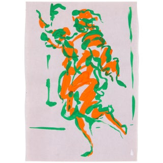 "Phillip Callahan ""Green & Orange"" Painting"