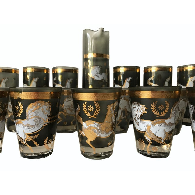 Mid-Centry Modern Bar Glasses & Pitcher - Image 2 of 7