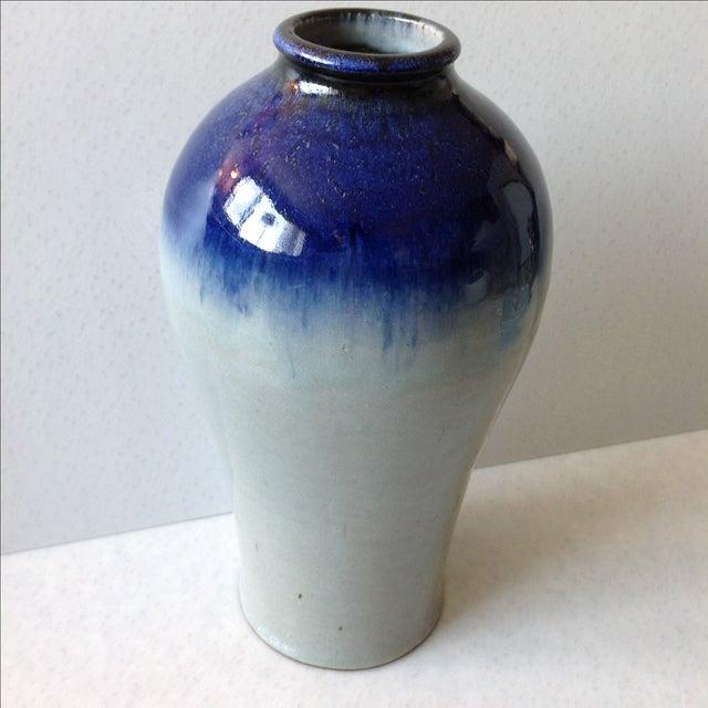 Studio Pottery Grey & Cobalt Blue Vase - Image 9 of 11