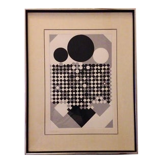 Victor Vasarely Untitled Op Art Serigraph