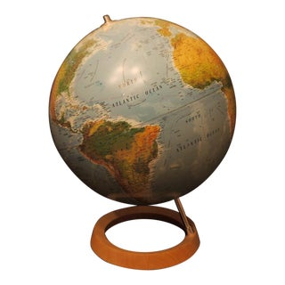 Atmosphere Globe With Wooden Base
