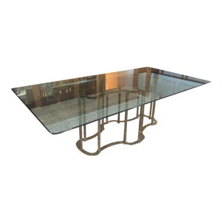 Mastercraft Racetrack Dining Table Hollywood Regency Style