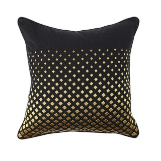 Black & Gold Cotton Pillow