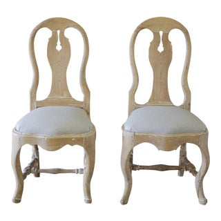 Late 18th Century Swedish Dining Room Chairs - a Pair