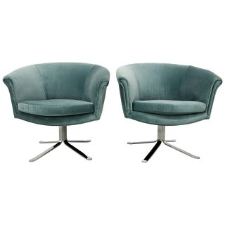 Mid-Century Swivel Chairs Nicos Zograpos - A Pair