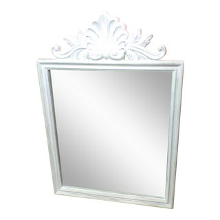 Distressed Antiqued White Mirror