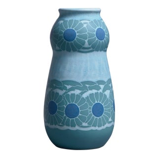 Josef Ekberg polychrome sgraffito ceramic vase for Gustavsberg, 1910