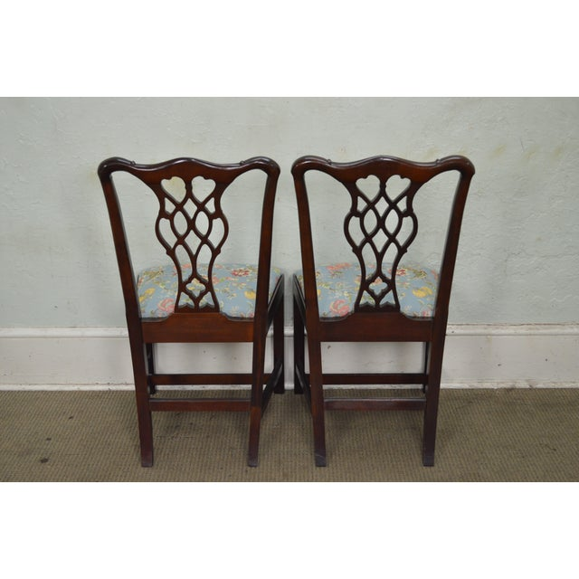 Councill Craftsman Solid Mahogany Chippendale Style Dining Chairs - Set of 8 - Image 7 of 10