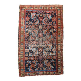 "Distressed Antique Persian Heriz Rug - 2'9"" x 4'4"""