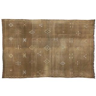 Vintage Moroccan Cactus Silk Rug - 7′8″ × 12′1″