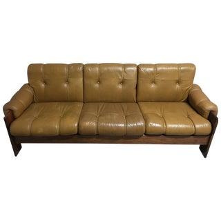 Mid Century Modern Leather Scandinavian Sofa
