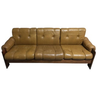 Mid Century Modern Leather Scandinavian Sofa