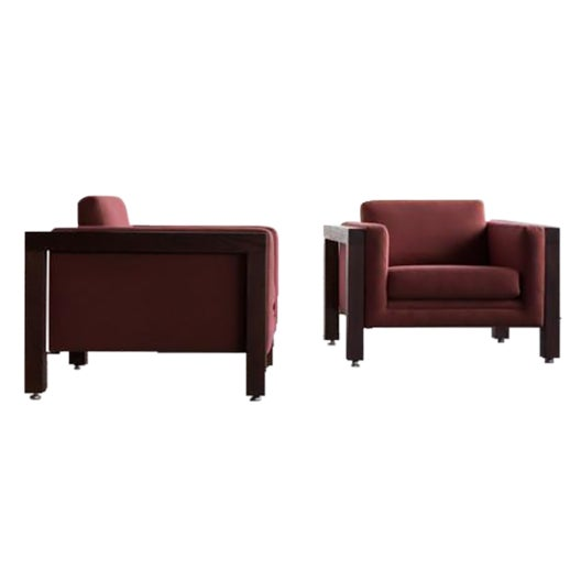 Milo Baughman Thayer Coggin Club Chairs - Pair - Image 1 of 5