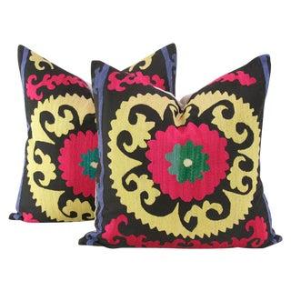 Kanaklata Suzani Square Pillow - a Pair