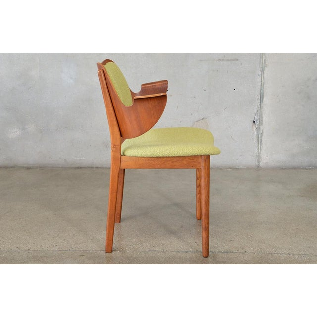 Hans Olsen Bent Teak & Oak Arm Chair - Image 4 of 8