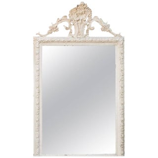 Antique Lacquered Hand-Carved French Mirror circa 1880