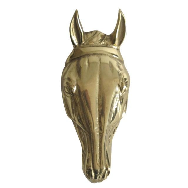 Horse head door knocker chairish - Horse door knocker ...