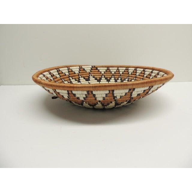 Image of Vintage Round African Basket