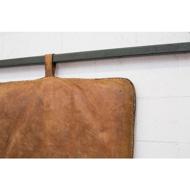 Vintage Leather Gymnastics Mat - Image 4 of 8