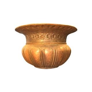 Hammered Brass Islamic Jardinière
