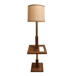 Mid-Century Floor Lamp with Magazine Holder
