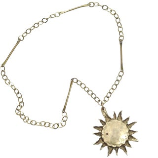 1960s Brass Sun Medallion