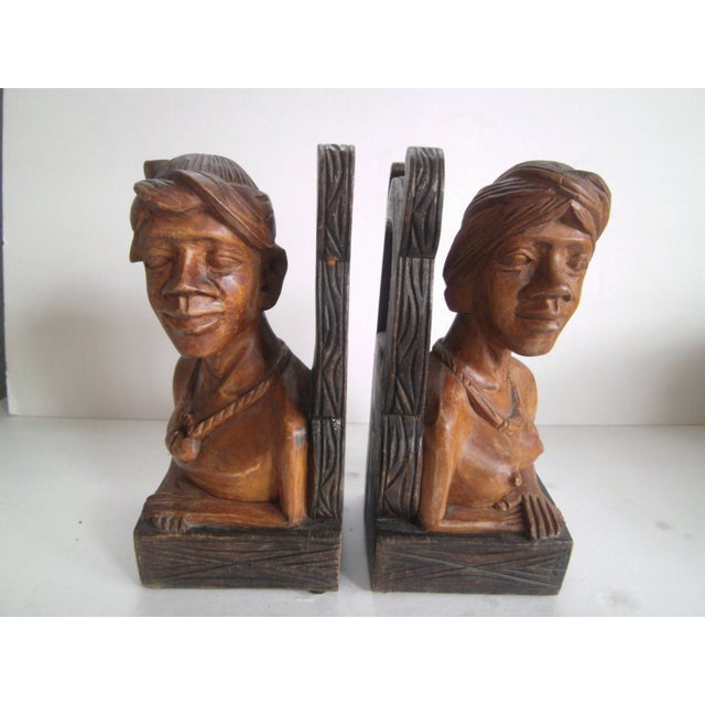 Hand Carved Wooden Bookends - Image 11 of 11