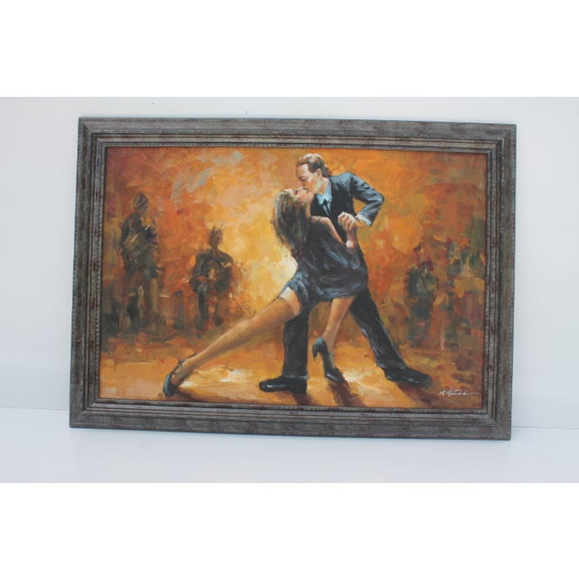 Image of M . Harold Vintage Dancing Abstract Painting