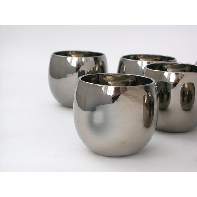 Mid Century Silver Glasses - 6 - Image 3 of 5