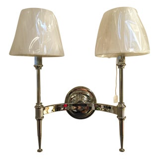 Double Light Federalist Chrome Wall Sconce