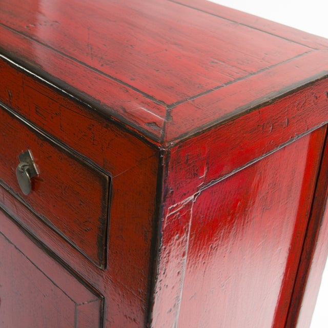 Image of 1890's Chinese Red Sideboard