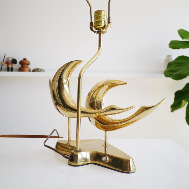 Brass Birds Lamp by Heyco - Image 3 of 4