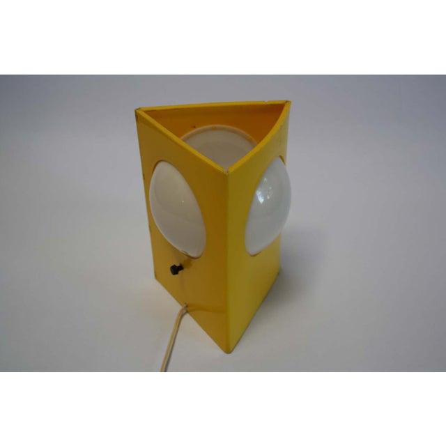 Mid-Century Mod Plastic Triangle Lamp - Image 4 of 10