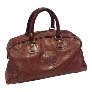 Iconic Vintage Leather Ghurka Bag Travel Duffel Overnight Weekender Tote