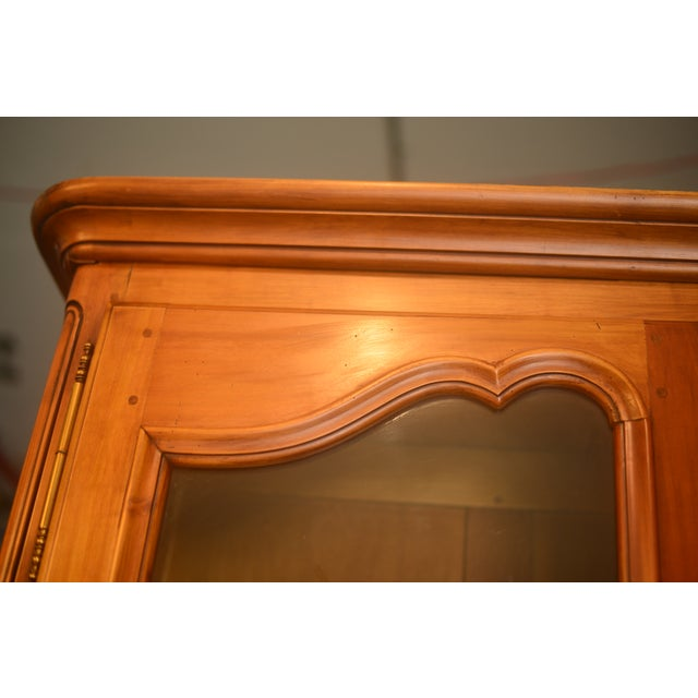 French Cherrywood & Glass Bookcase - Image 5 of 5
