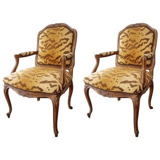 Louis XV Style Armchairs - A Pair