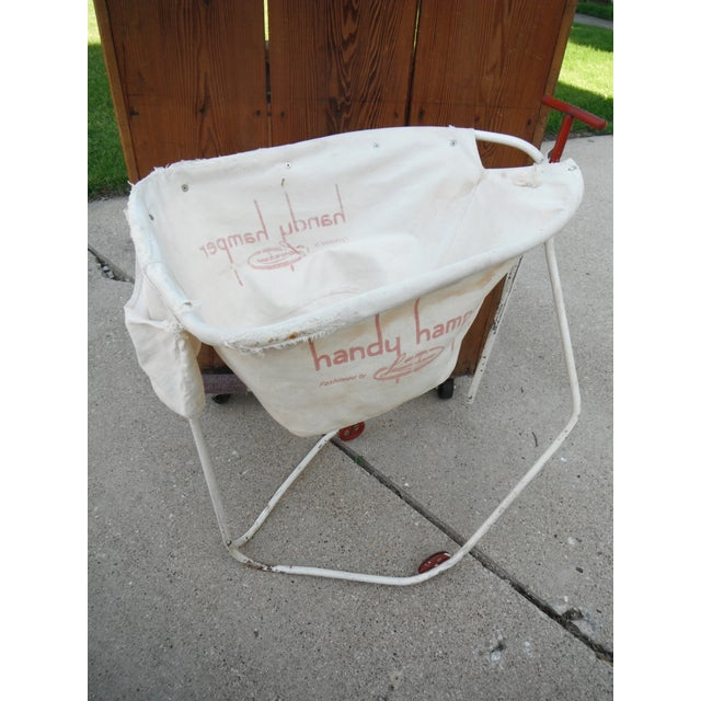 Vintage 1930s Industrial Laundry Cart - Image 5 of 5