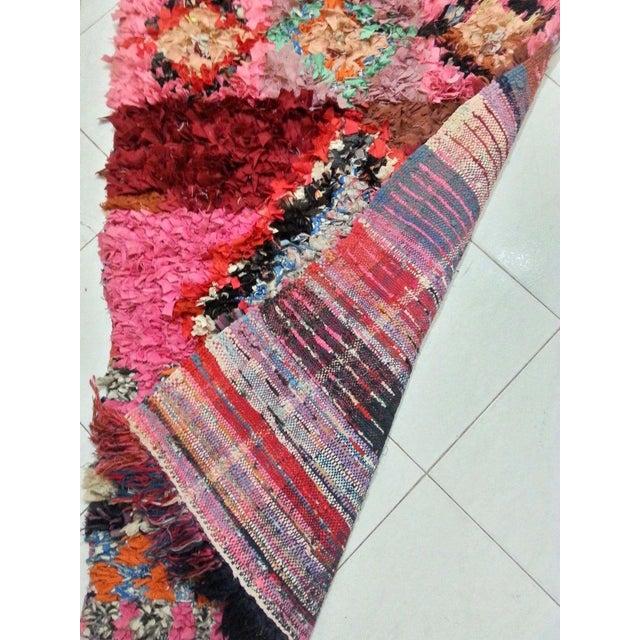 Pink Boucherouite Apotropaic Rug - 2′7″ × 8′6″ - Image 3 of 5