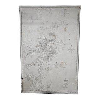 Antique 1843 Map E. Coast China & Islands Print