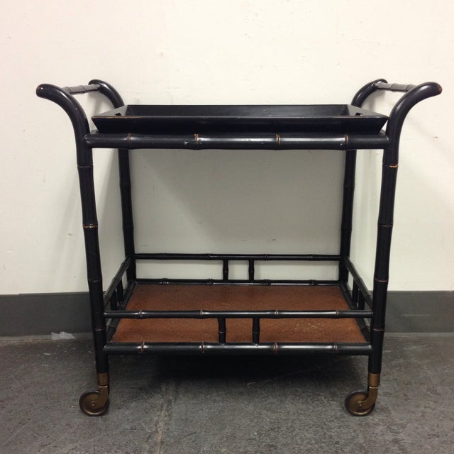 Hand Crafted Tea Cart from the Philippines - Image 4 of 9