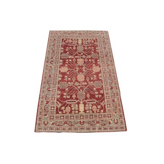 Classic Afghani Hand-Knotted Wool Rug