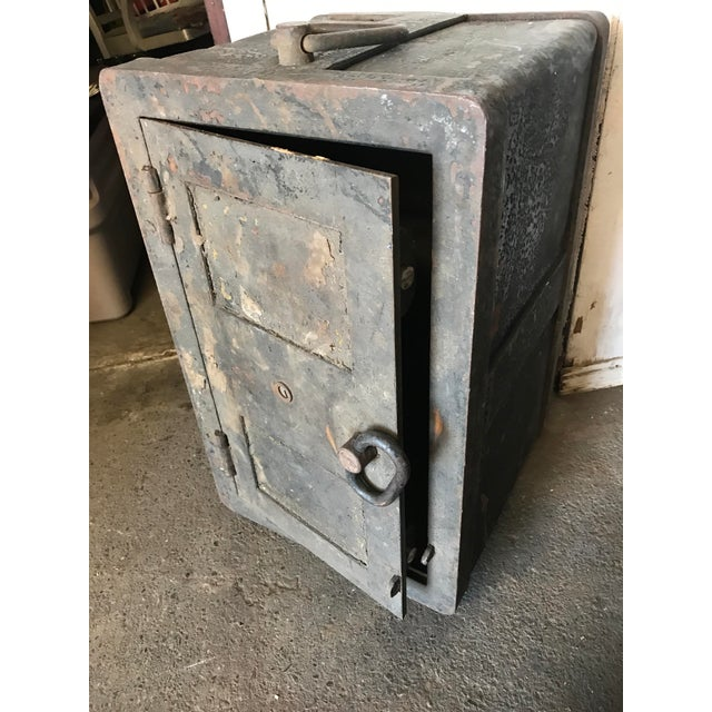 Solid Iron Antique Train Lock Box - Image 3 of 10