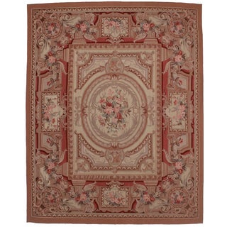 Vintage French Aubusson Style Wool Rug - 8′ × 10′