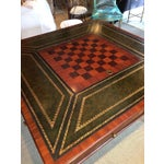 Image of Inlaid & Tooled Leather Game Table