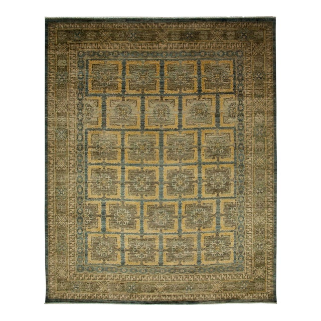 "Khotan Hand Knotted Area Rug - 8'1"" X 9'9"" - Image 1 of 3"