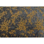 Image of Navy and Gold Cherry Blossom Chenille - 6.75 Yards