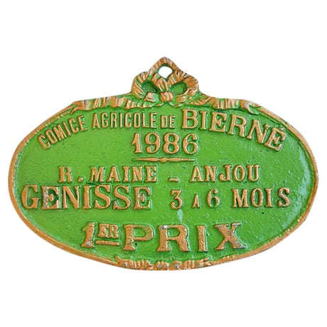 Image of French Trophy Award Plaque, 1986