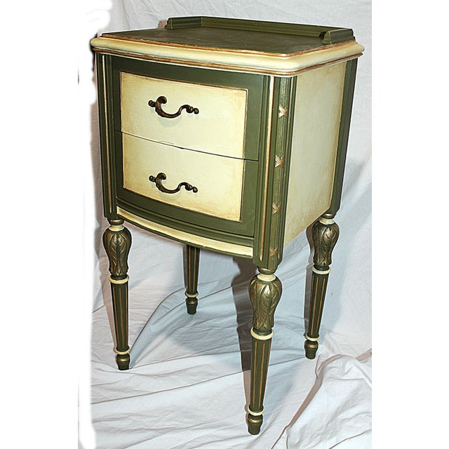 Vintage 1920s Mahogany Painted End Table - Image 2 of 10